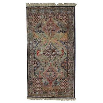 Persian Shiraz Style Wool Rug, 20th Century