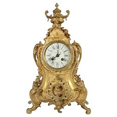 19th Century Louis XV Style French Etienne Maxant Brevete Mantel Clock