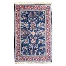 Vintage Persian Sarouk Floral Oriental Rug, circa 1940