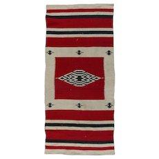 Antique Southwestern American Indian Serape Style Navajo Mat, circa 1920
