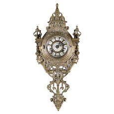 French Louis XIV Style Gilt Bronze Cartel Clock by Tiffany & Co., 20th Century