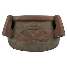 Arts & Crafts Terracotta High Relief and Handled Planter, circa 1910