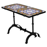 Arts & Crafts Yellin School Wrought Iron and Enameled California Tile Table