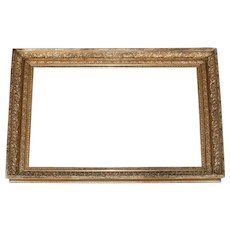 Monumental Museum Sized Antique Scroll and Foliate Giltwood Art Frame circa 1900