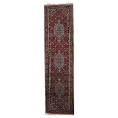Persian Triple Medallion Wool Carpet Runner, 20th Century
