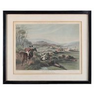 "English Hunt Engraving ""Moore's Tally Ho to the Sports"" ""The Noble Tips"""