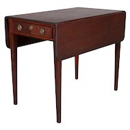 Antique English Hepplewhite Inlaid Mahogany Pembroke Drop-Leaf Table