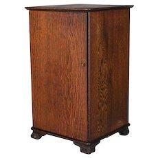 Antique Arts & Crafts Mission Oak Edison Cylinder and Phonograph Cabinet