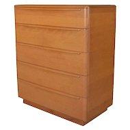 Mid-Century Modern 5-Drawer Heywood Wakefield Highboy Dresser, Champagne