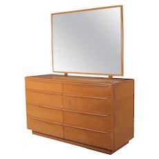 Mid-Century Modern 6-Drawer Mirrored Heywood Wakefield Dresser, Champagne