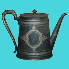 Antique English George III Silver Plate Teapot, circa 1820