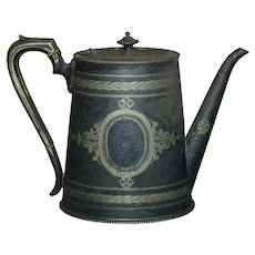 Antique English George III Silver Plate Teapot, circa 1820