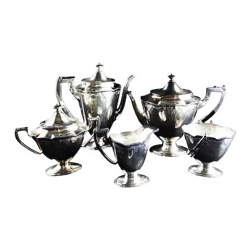 International Silver Co. Barbours English Regency Style Coffee and Tea Set