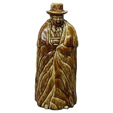 Antique Bennington Pottery Figural Coachman Flask in