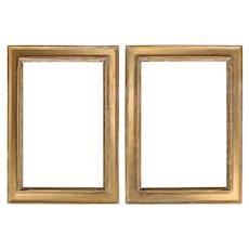 Arts & Crafts Newcomb-Macklin Matching Set Giltwood Art Frames Orig Labels