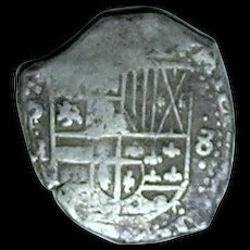 Bolivia; Cob 8 Real Silver Coin; Philip III; 1598-1620 - Red Tag Sale Item
