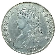 CAPPED BUST United States Half Dollar; 1830 - Red Tag Sale Item