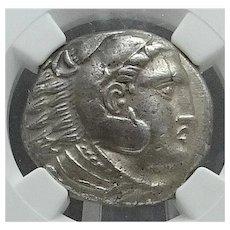 ALEXANDER THE GREAT; Silver Tetradrachm; Macedonian Kingdom