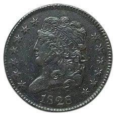 U.S. Half Cent 1828, 13 Stars; High Grade