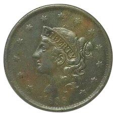 U.S. Lagge Cent; 1838; High Grade