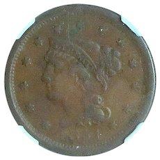 U.S. Large Cent; 1851; NGC Holder; High Grade