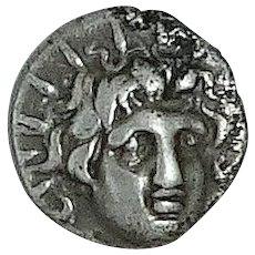 CARIA; Rhodes; Ancient Greek Coin, c.167-88 BC.; Silver Hemidrachm