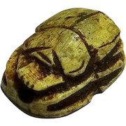 Ancient Egypt; Steatite Scarab; Late Period