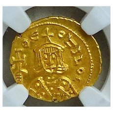 THEOPHILUS;  Byzantine Emperor (829-842 AD); Gold Solidus