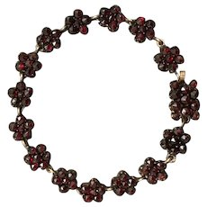 Antique Victorian Oxblood Bright Bohemian Garnet Bracelet