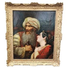 "Jean Joseph Bidauld (1758 – 1846) Original Oil Painting after Raymond Monvoisin ""Ali Pasha"""