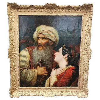 "Jean Joseph Bidauld (1758 – 1846) Original Oil Painting after Raymond Monvoisin ""Ali Pasha"""