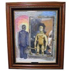 Karien Zachery Embellished Mixed Media Print Emancipation African American Art