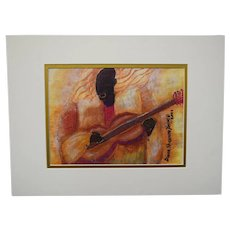"""Diana Shannon Young """"Blues Serenade"""" Limited Ed Signed/Numbered Print 37/50 2001"""
