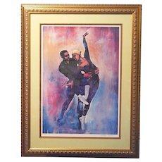 """William Tolliver """"Dancers"""" Limited Edition Print Signed/Numbered Framed 219/850"""