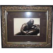 Gregory McNeal Signed/Dated Photo Art Print Black Man w/Inner Tube SGL Framed