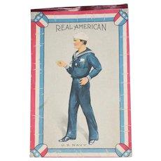 "Real WWI Era US Military American Original Recruiting Poster Print 8"" x 12"""