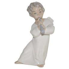 """Vintage LLadro Nativity Set Angel With Flute"""" #4540 w/Box Mint Condition Playing"""