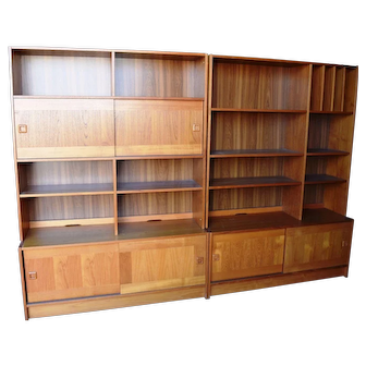 Local Pickup Only Domino Mobler Mid Century Modern Danish Teak Wood Wall Unit Credenza Bookshelf