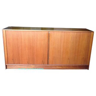 Mid Century Modern Danish Teak Dresser Set w/Tambour Door Bedroom LOCAL PICKUP ONLY