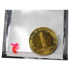 1964 Austrian 1 Schilling, Uncirculated Austria Coin