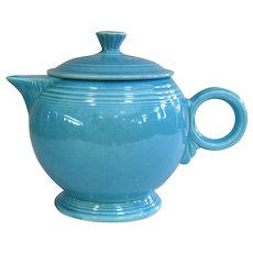 Fiesta Original Turquoise Large Ring Handle Teapot with Lid
