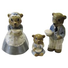 Wade 1950s Nursery Rhymes Set 3 Bears Papa, Mama & Baby Near Mint