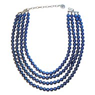 Lisner Four-Strand Lucite Moonglow Necklace
