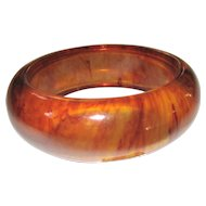 Bright Tortoise Transparent Bakelite Bangle Bracelet