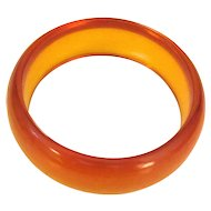 Transparent Amber Bakelite Bangle Bracelet