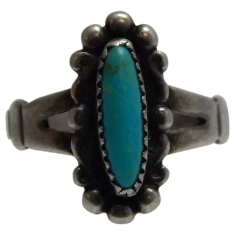 Sterling Turquoise Ring Size 6 By Bell Trading Post