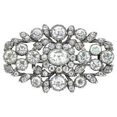 Large Silver Antique Paste Brooch c.1850