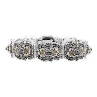 Austro-Hungarian Silver Garnet Bracelet