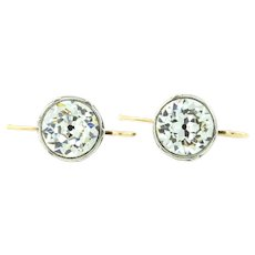 Antique Georgian Paste Earrings on 18ct Gold & Silver c.1820