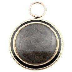 "Georgian Enamel Mourning Locket - Inscribed ""18 June 1800"""